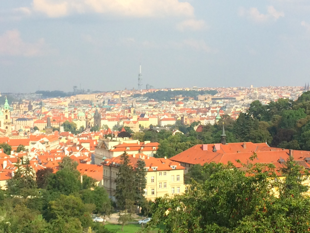 View of Žižkov Tower from Prague Castle A Locals Guide to Prague for First Timers