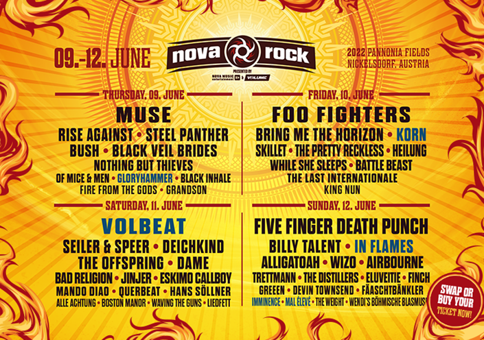 NOVA ROCK: 2022 with VOLBEAT, KORN, IN FLAMES and much more 3