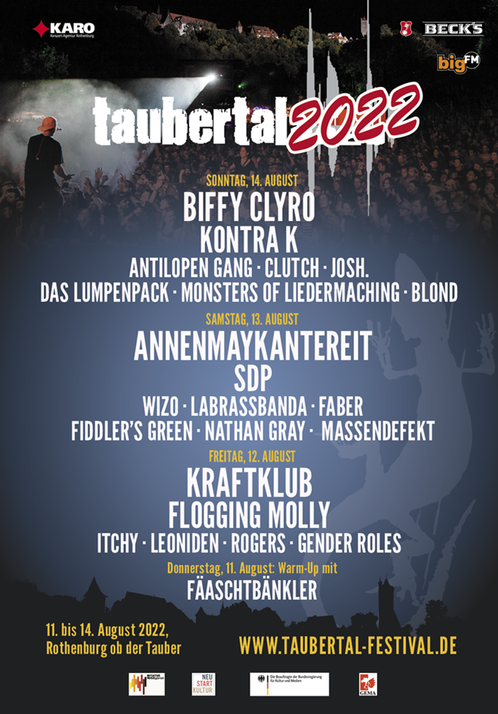 Taubertal Festival 2022 Line Up 2